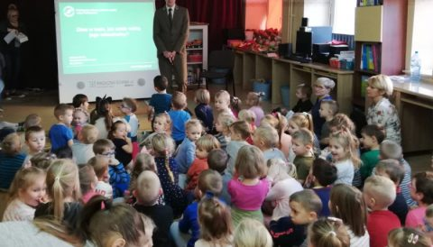 Leśniczy odwiedził nasze przedszkole
