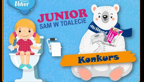 """Junior sam w toalecie"""""""