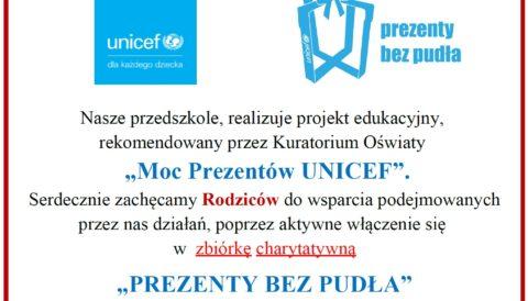 """Zbiórka charytatywna """"PREZENTY BEZ PUDŁA"""""""